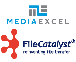 Media Excel and FileCatalyst logos